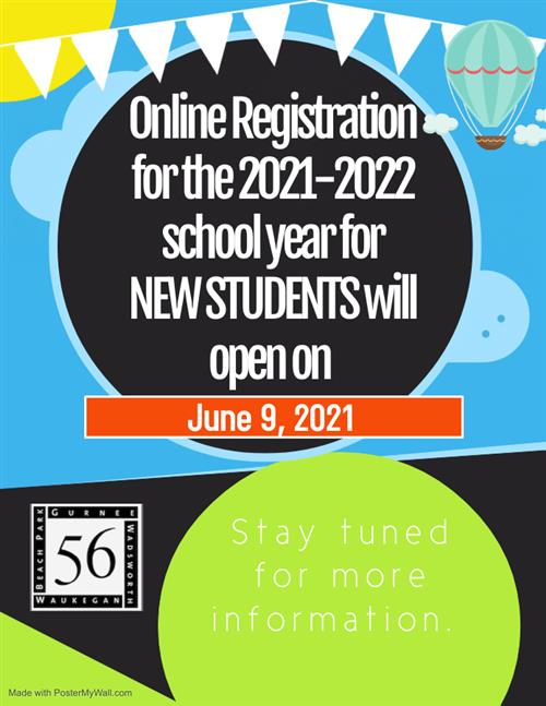 Online Registration for the 2021-22 school year.